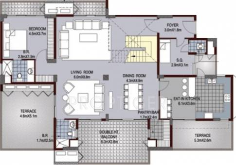 Ansal api aquapolis in crossing republik ghaziabad 5 bhk duplex floor plan