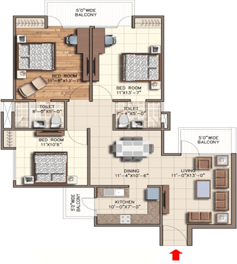 Rudra aqua casa in sector 16 noida extension noida for Casa floor