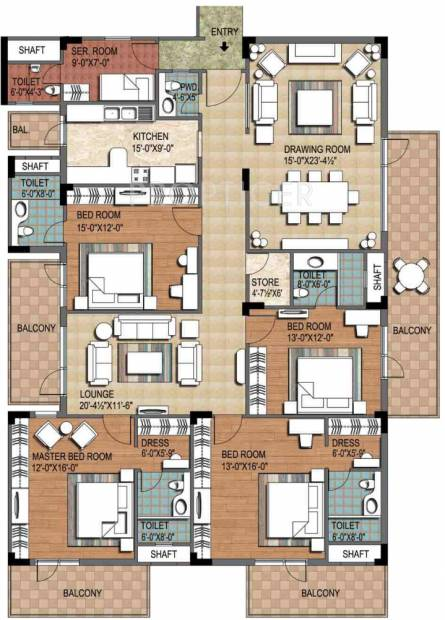 Ninex City (4BHK+4T (3,600 sq ft) + Servant Room 3600 sq ft)