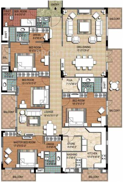 Ninex City (4BHK+4T (4,055 sq ft) + Servant Room 4055 sq ft)