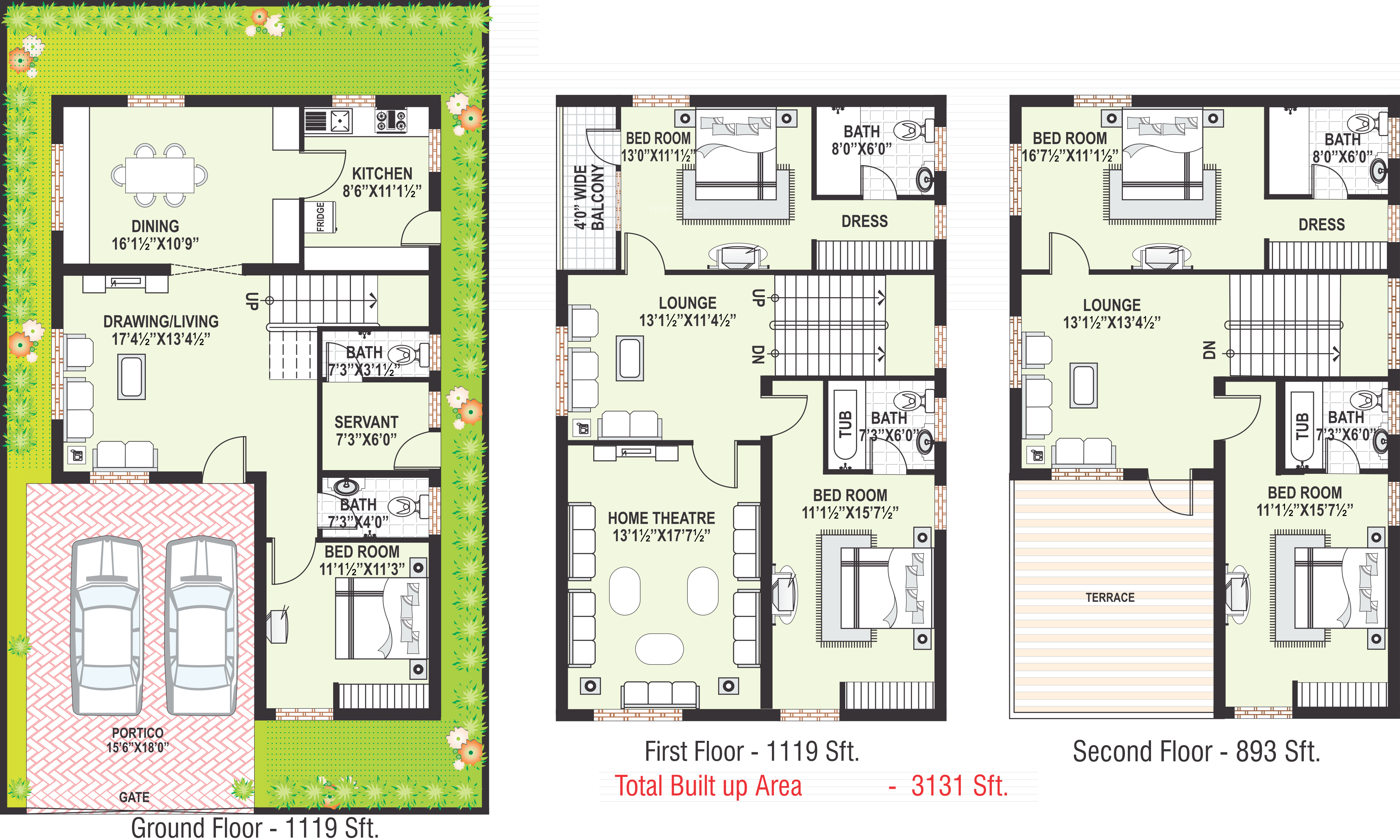 3131 sq ft 5 bhk 6t villa for sale in modi sterling homes for Sterling plan