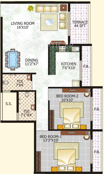 1200 sq ft 2 bhk 2t apartment for sale in raj group tulsi for Apartment plans 1200 sq ft