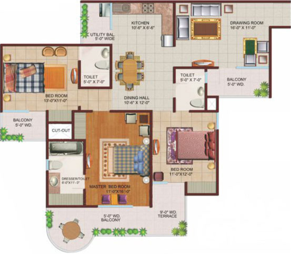 Open Kitchen Noida: Ajnara Grand Heritage In Sector 74, Noida