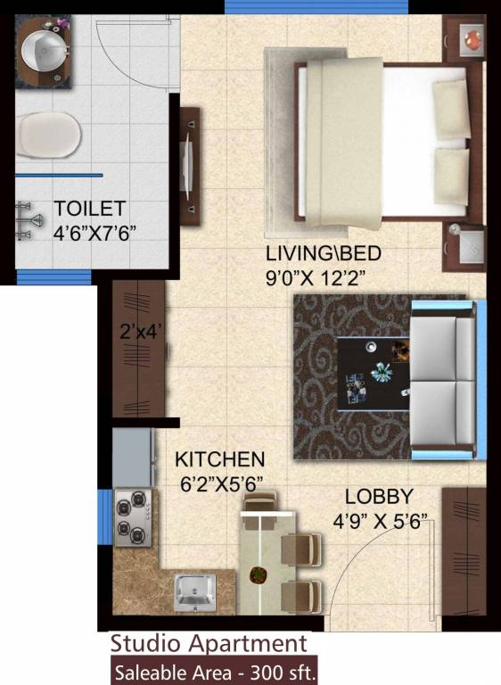 300 sq ft 1 bhk 1t apartment for sale in pashmina for 300 sq ft apartment floor plan