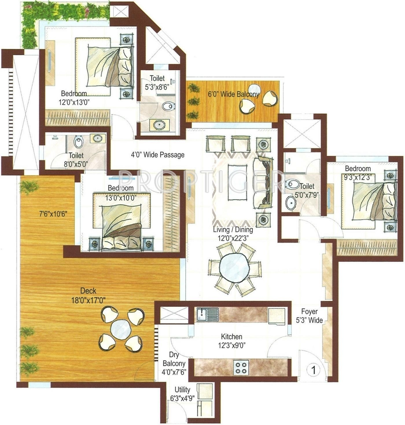 ashford royale floor plan 3bhk 3t terrace 2000 sq ft 580987 ashford ...