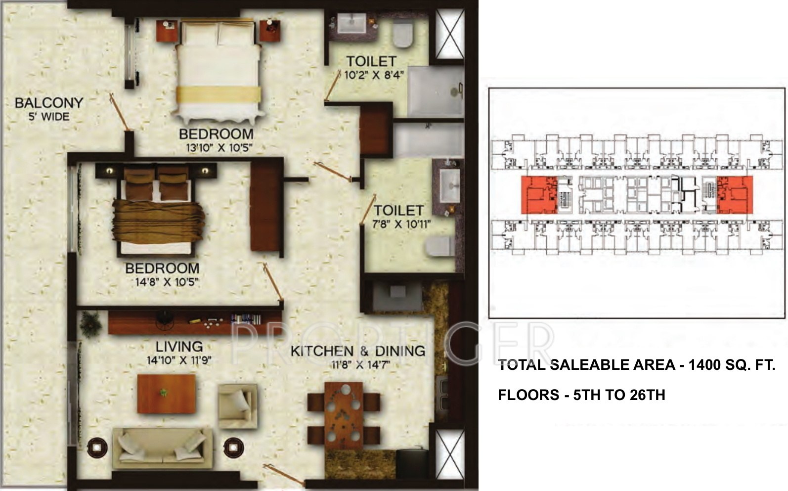 1400 sq ft 2 bhk 2t apartment for sale in wave elegantia for 1400 sq ft floor plans