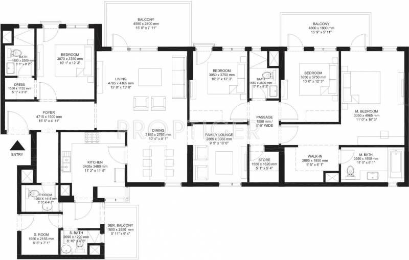 Ireo The Corridors (4BHK+4T (2,734 sq ft) + Study Room 2734 sq ft)
