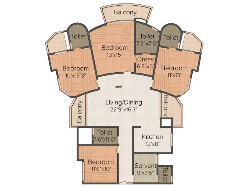 SDS NRI Residency (4BHK+5T (2,125 sq ft) + Servant Room 2125 sq ft)