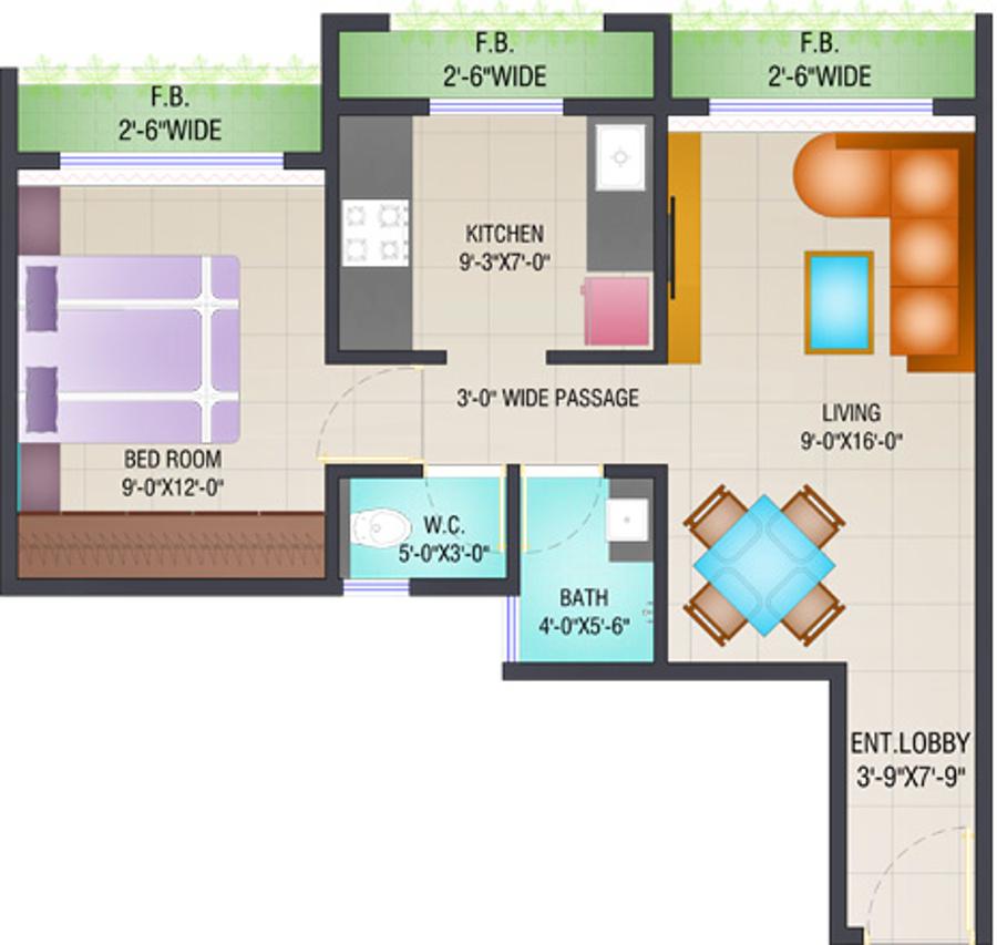 Arihant aloki in karjat mumbai price location map for Floor plan creator windows 7