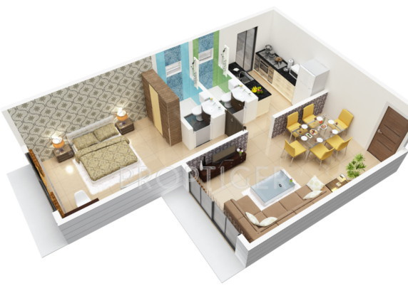 700 sq ft 1 bhk 1t apartment for sale in sagar builders for Floor plans 700 square foot apartment