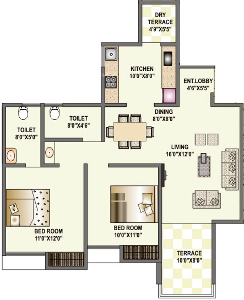 1135 sq ft 2 bhk 2t apartment for sale in shriram housing for 12th floor apartments odessa