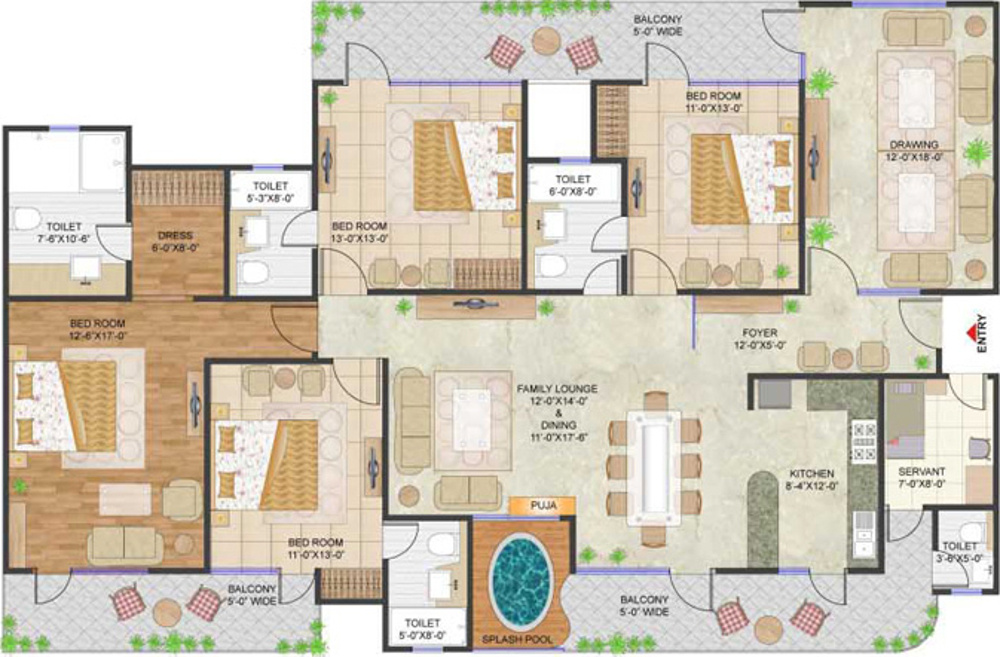 3000 sq ft 4 bhk 4t apartment for sale in prateek group for 3000 sq ft apartment floor plan