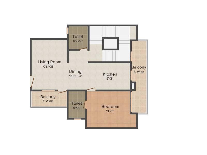 Bulland Heights (3BHK+4T (2,450 sq ft)   Study Room 2450 sq ft)