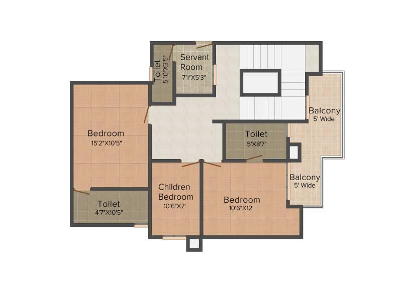 Bulland Heights (3BHK+4T (2,500 sq ft)   Study Room 2500 sq ft)