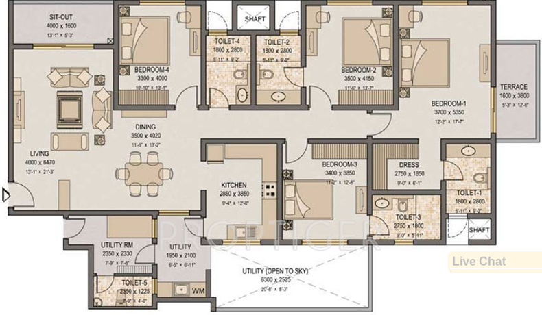 3974 sq ft 4 bhk 4t apartment for sale in sobha garnet for 2600 sq ft house plans