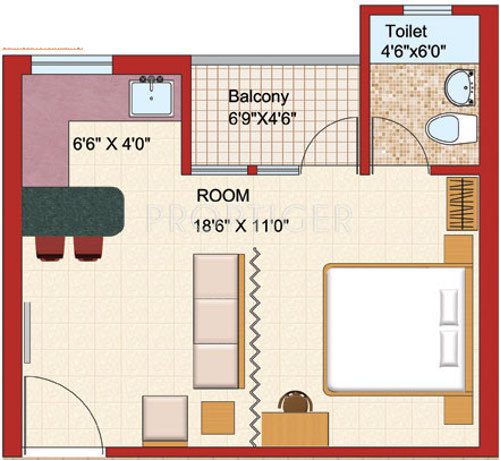 500 sq ft 1 bhk floor plan image shubhkamna advert group for 500 square feet apartment floor plan