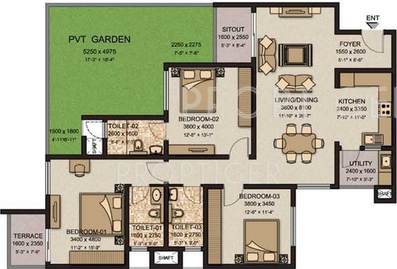 1900 sq ft 3 bhk 3t apartment for sale in sobha limited for 1900 sq ft