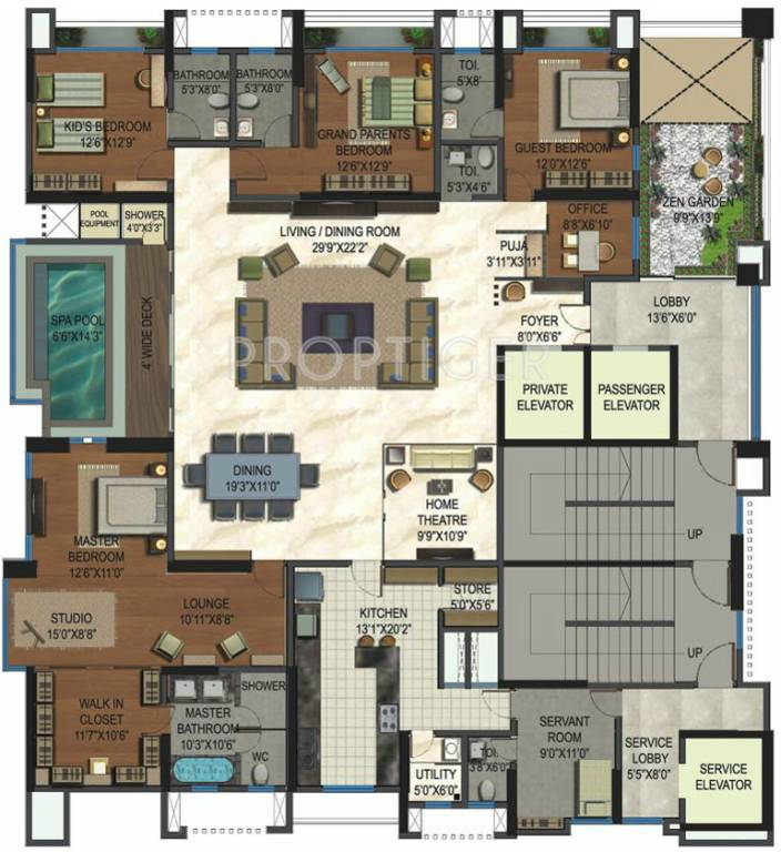 5000 sq ft 4 bhk 6t apartments in lodha aristo thane for 5000 sq ft house floor plans