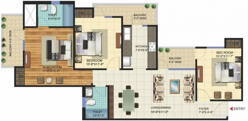VVIP Homes (3BHK+2T (1,490 sq ft) 1490 sq ft)