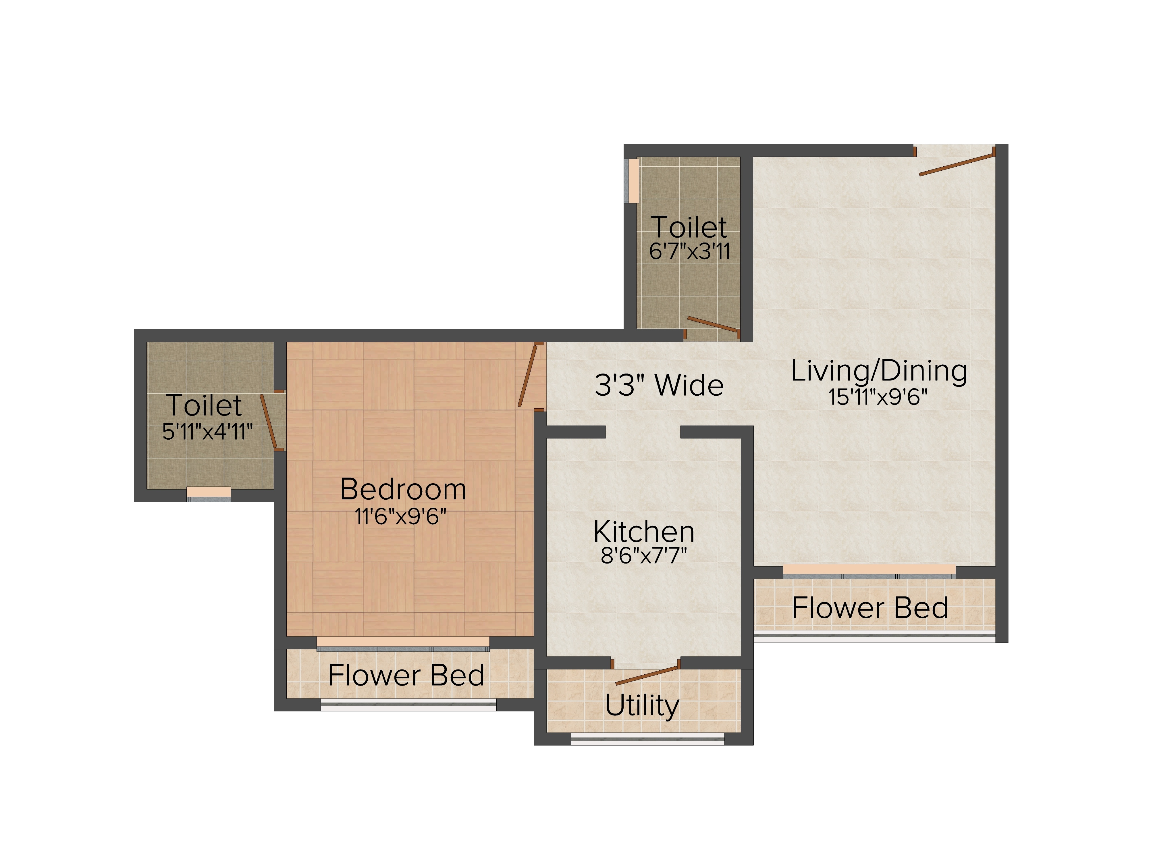 640 sq ft 1 bhk 1t northwest facing resale apartment on for 640 sq ft