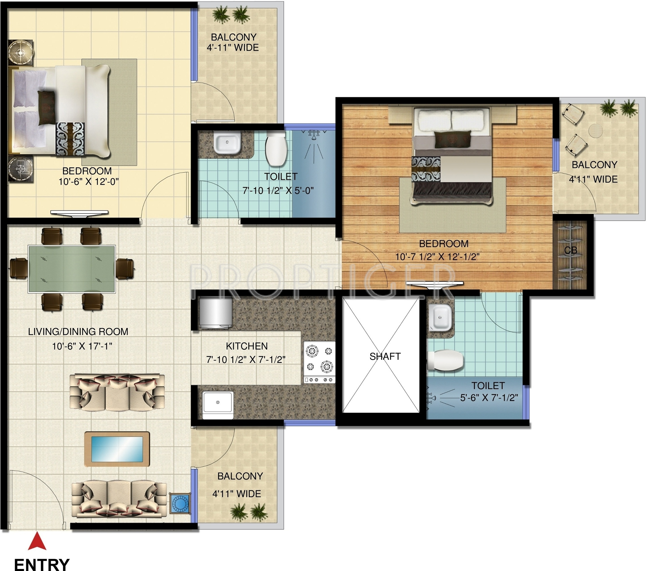 1000 Sq Ft 2 Bhk 2t Apartment For Sale In Amrapali Jaura