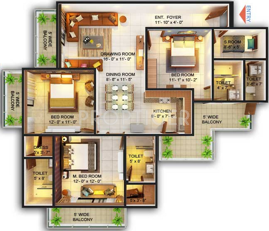 Solara Apartments: Emenox La Solara In Sector 16 Noida Extension, Greater