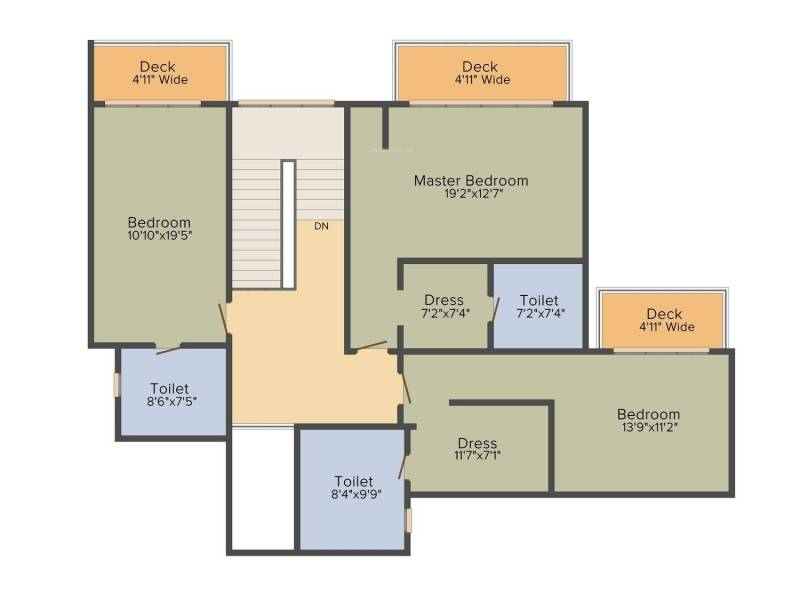 DLF The Crest (4BHK+5T (4,498 sq ft) 4498 sq ft)
