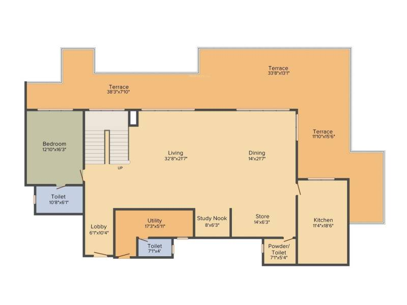 DLF The Crest (5BHK+7T (6,221 sq ft)   Study Room 6221 sq ft)