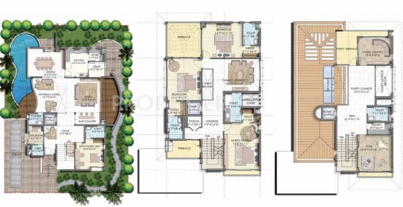 Olympia Panache (4BHK+6T (4,623 sq ft)   Servant Room 4623 sq ft)