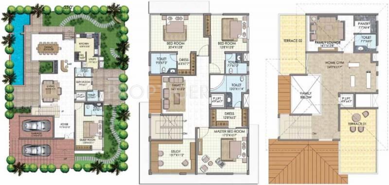 Olympia Panache (4BHK+6T (4,729 sq ft)   Study Room 4729 sq ft)