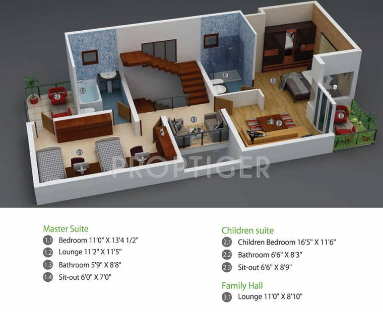 West Facing House Ground Floor Elevation : Sq ft bhk floor plan image green shapes