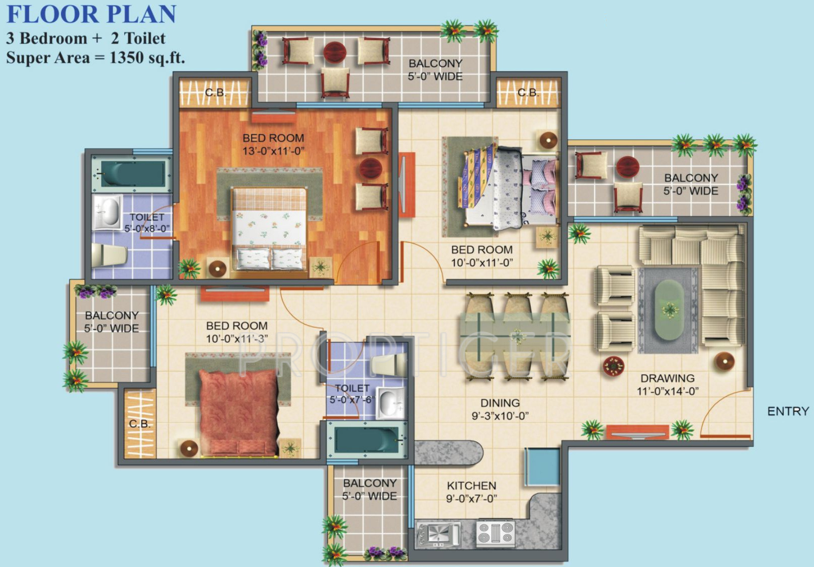 Maxblis White House II In Sector Noida Price Location Map - Floor plan for house 2