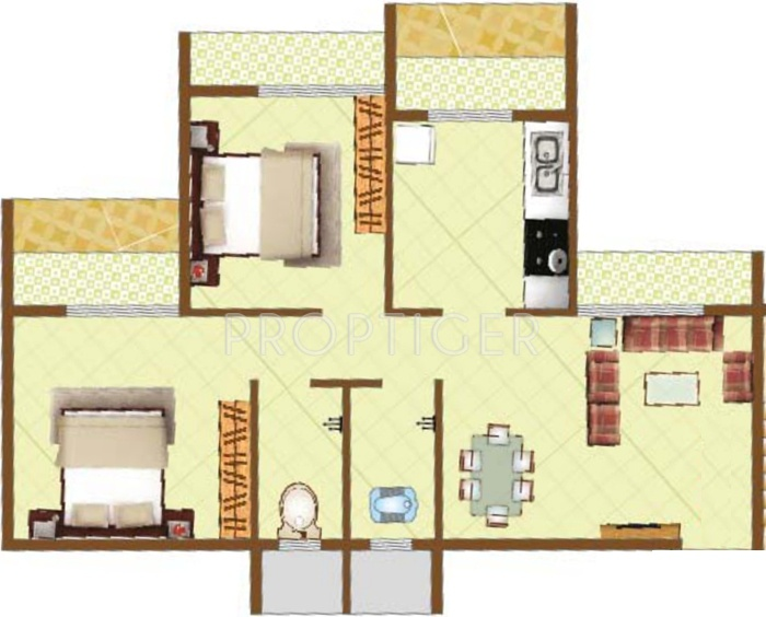 1000 Sq Ft 2 Bhk 2t Apartment For Sale In Jbd Group