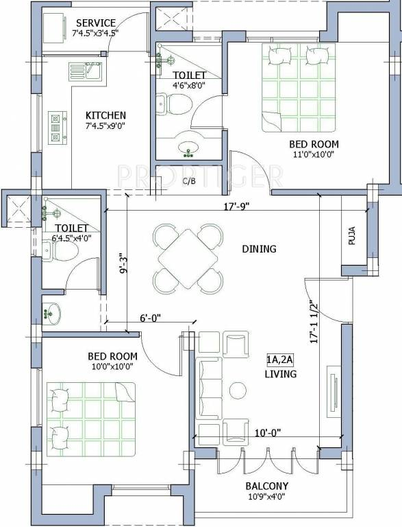 950 sq ft 2 bhk 2t apartment for sale in firm dwaraka anna for 950 sq ft house plans