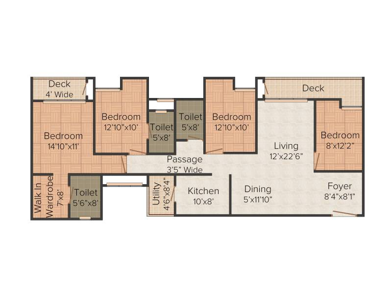 Emami City (4BHK+3T (2,210 sq ft) 2210 sq ft)