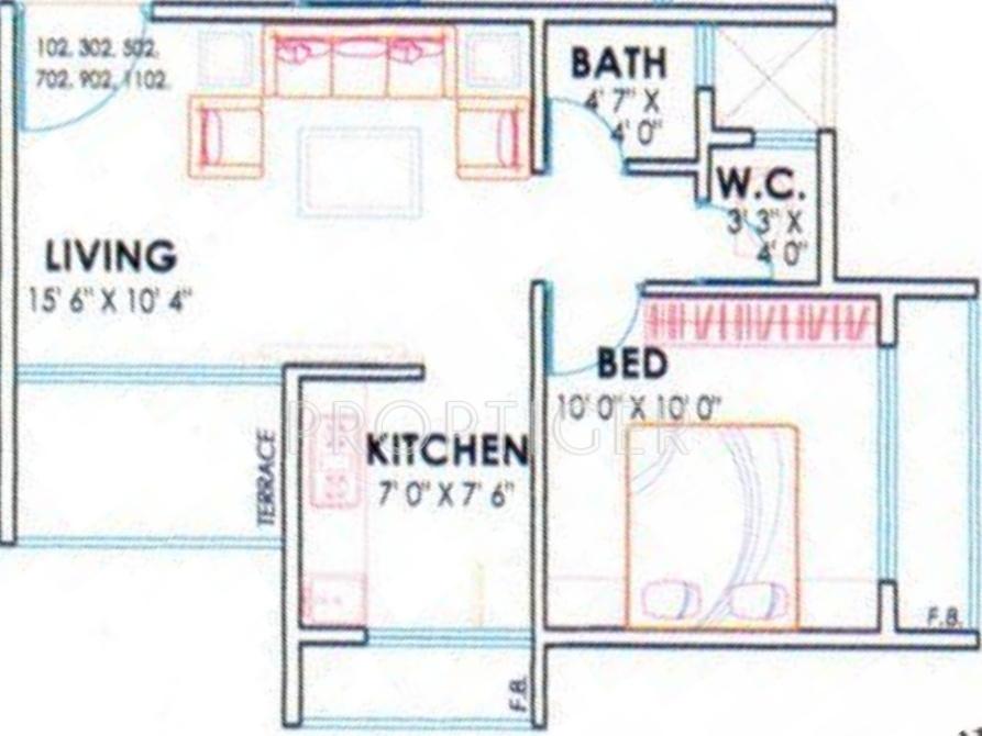 720 sq ft 1 bhk 1t apartment for sale in gurukripa kripa for 720 sq ft apartment floor plan