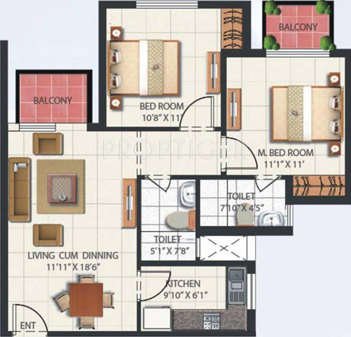 950 sq ft 2 bhk 2t apartment for sale in mahindra for 950 sq ft