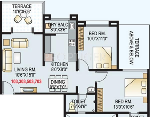 925 Sq Ft 2 Bhk 1t Apartment For Sale In Gk Developers