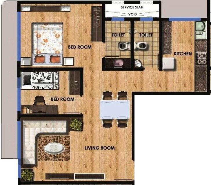 750 Sq Ft 1 Bhk 2t Apartment For Sale In Maitree
