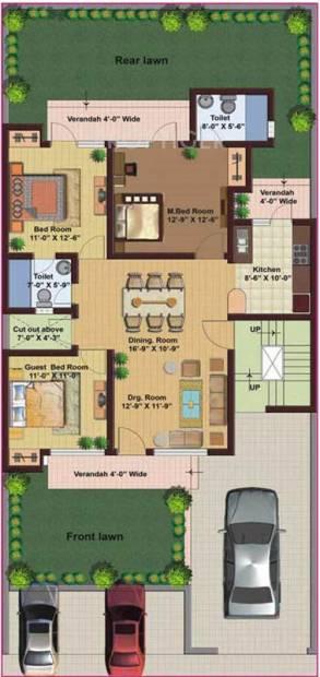 M2K Spring Floors (3BHK+2T (1,600 sq ft) 1600 sq ft)