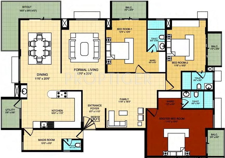 2332 sq ft 3 bhk 3t apartment for sale in zaffars sterling for Sterling plan