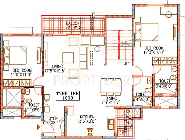 2744 sq ft 4 bhk lower level duplex plan 4bhk 5t terrace for 5 bhk duplex floor plan