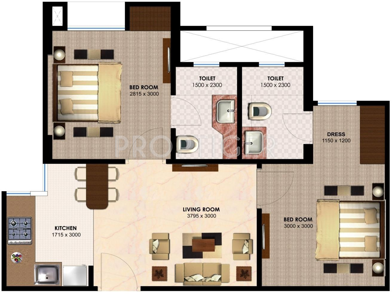 750 sq ft 2 bhk 2t apartment for sale in imperia h2o 750 sq ft