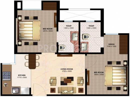 750 sq ft 2 bhk 2t apartment for sale in imperia h2o for 750 sq ft floor plan
