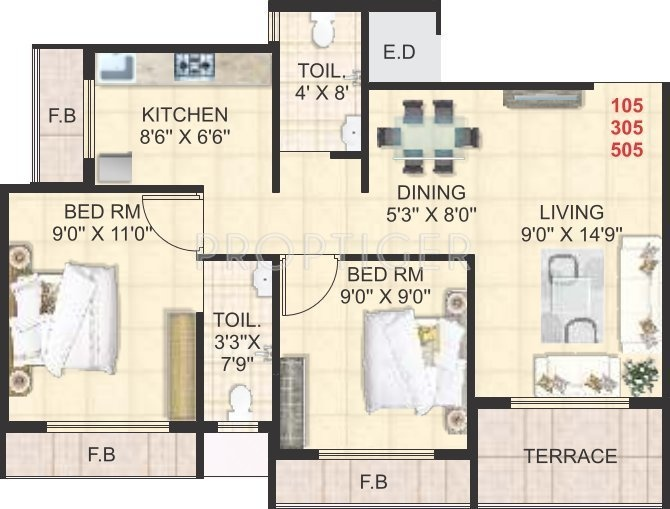 950 sq ft 2 bhk 2t apartment for sale in swaraj homes sai for 950 sq ft