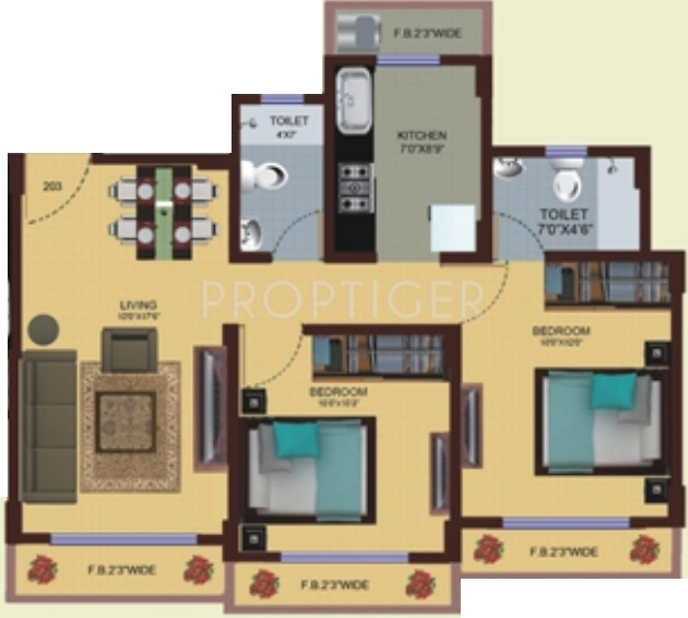 850 sq ft 2 bhk 2t apartment for sale in lalani orchid for Sq 850