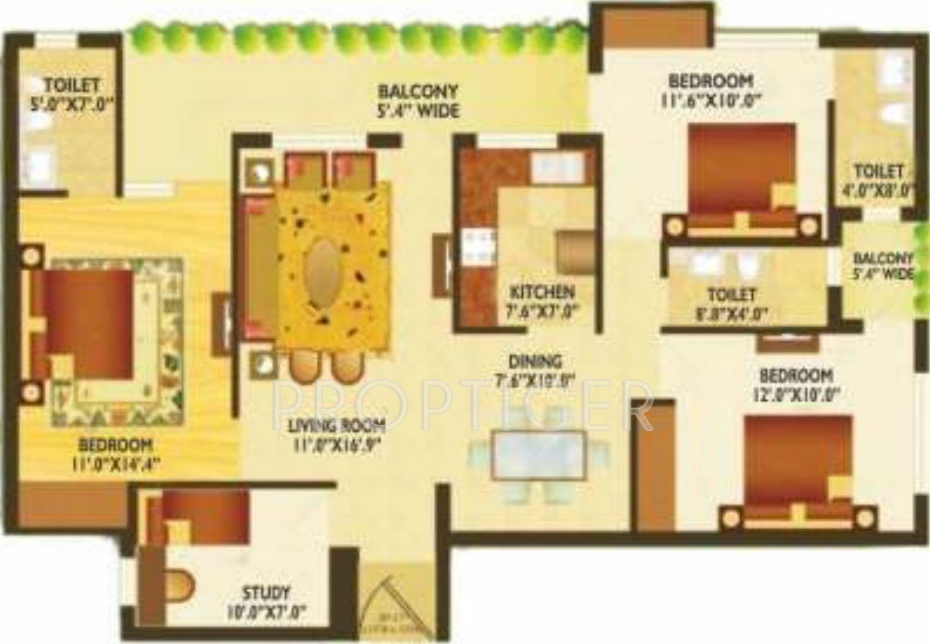 1600 sq ft 3 bhk 3t apartment for sale in green mansion for 1600 sft apartment design