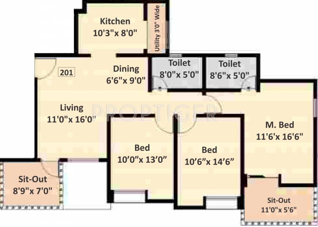 1400 sq ft 3 bhk 2t apartment for sale in nyati eternity for 1400 sq ft