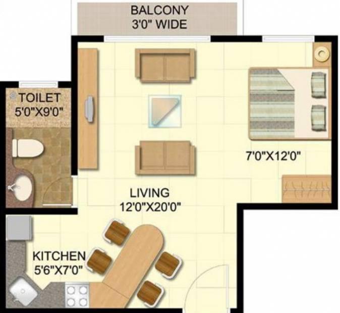 Disha Direct Bay Vista (1BHK+1T (604 sq ft) 604 sq ft)