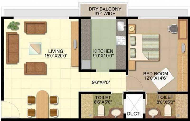 Disha Direct Bay Vista (1BHK+1T (956 sq ft) 956 sq ft)